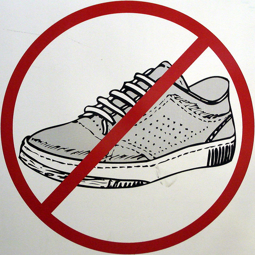 photo regarding No Shoes Sign Printable identified as No sneakers Women of all ages footwear on line
