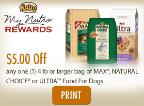 Nutro max dog food coupons 2018