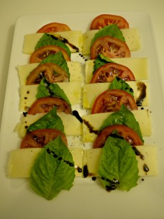 Caprese Salad with Homemade Balsamic Reduction