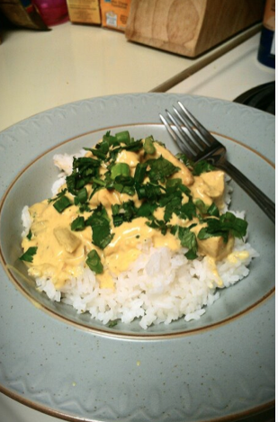 Recipe: Coconut Lime Chicken with Chiles With A Twist Of Curry Over Rice