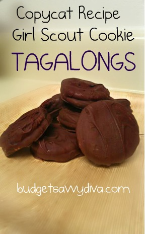 Copy Cat Recipe for Girl Scout Cookie - Tagalongs