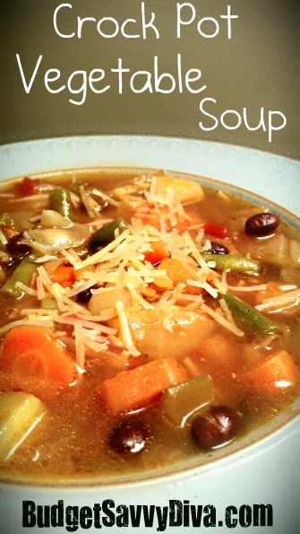 Crock Pot Vegetable Soup Recipe | Budget Savvy Diva