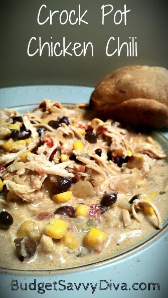 Crock Pot Chicken Chili Recipe Budget Savvy Diva