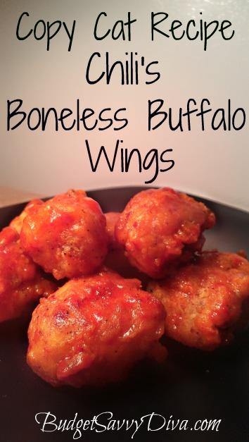 ... Cat Recipe – Chili's Boneless Buffalo Wings   Budget Savvy Diva