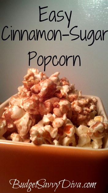 Easy Cinnamon Sugar Popcorn Recipe