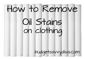 How To Remove Grease And Oil Stains On Clothing Budget Savvy Diva
