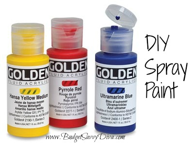 How to make your own spray paint budget savvy diva for How does spray paint work