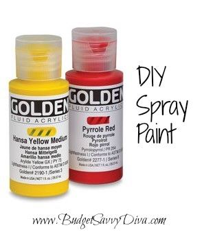 how to make your own spray paint budget savvy diva. Black Bedroom Furniture Sets. Home Design Ideas