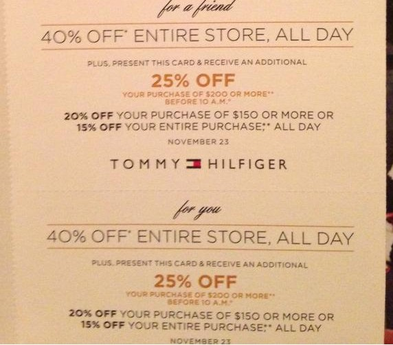 image about Tommy Hilfiger Outlet Coupon Printable named Tommy hilfiger keep discount codes : Workplace depot world-wide