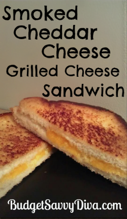 Smoked Cheddar Cheese Grilled Cheese Sandwich Recipe | Budget Savvy ...