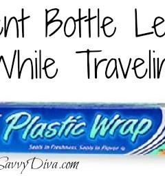 diy bottle leakage prevention