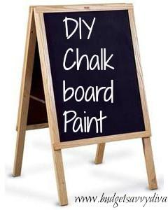 diy chalkboard paint