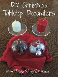 diy christmas tabletop