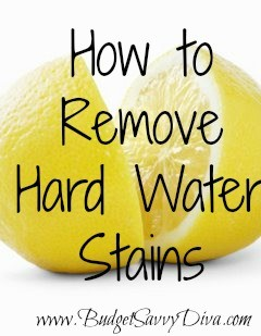 diy hard water stain removal