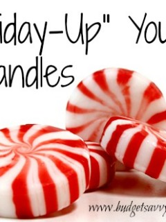 diy holiday candle