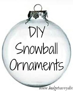 diy snowball ornament