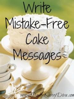 diy cake writing
