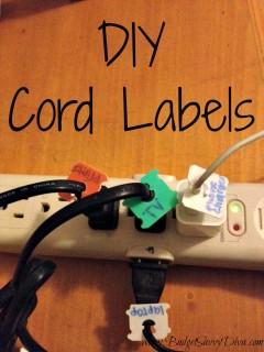 diy cord labels