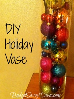 diy holiday vase