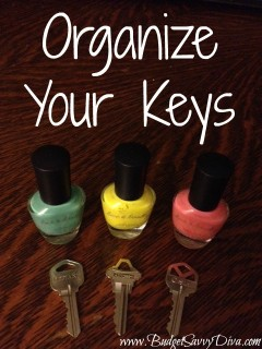 diy key organizer