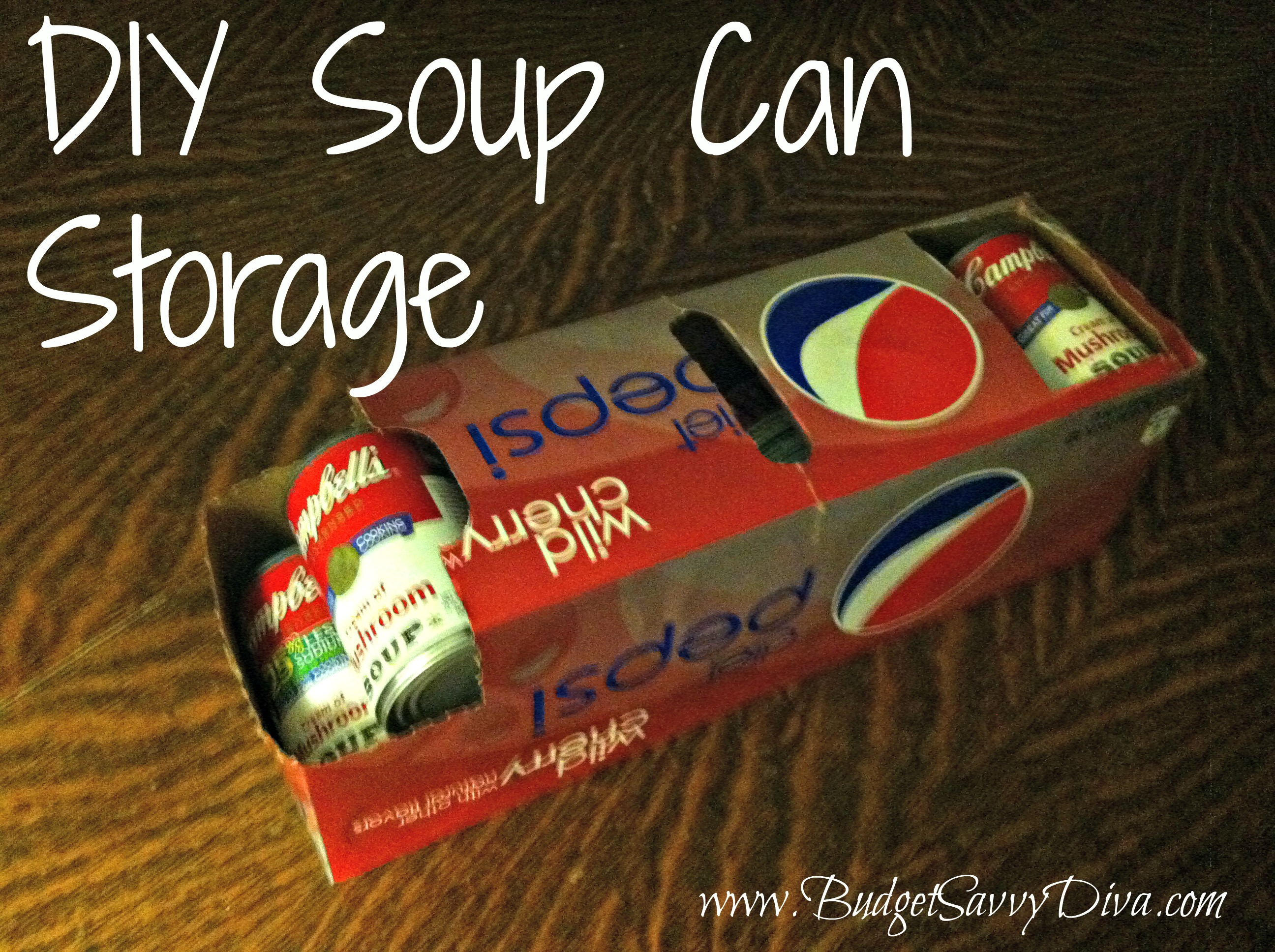 Diy Soup Can Storage