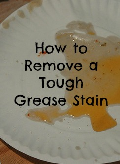 How To Remove A Tough Grease Stain Budget Savvy Diva