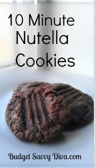10 Minute Nutella Cookies Recipe