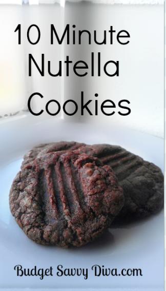 10 Minute Nutella Cookies Recipe