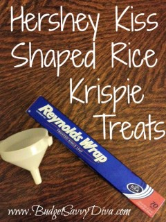 diy hershey kiss rice krispie