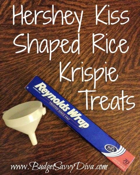 How To Make Hershey Kiss Shaped Rice Krispie Treat