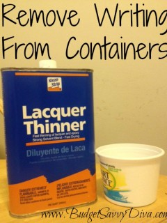 DIY container writing