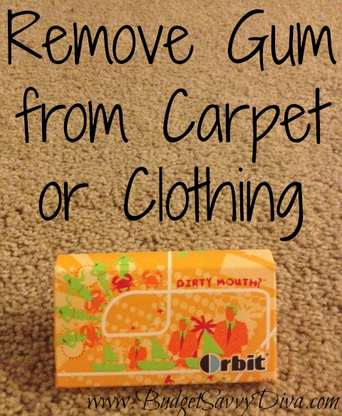 Remove Black Grease From Carpet http://www.budgetsavvydiva.com/2013/03/remove-gum-carpets-clothing/