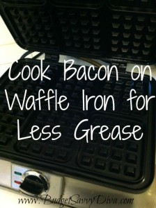 Bacon on Waffle for Less Grease