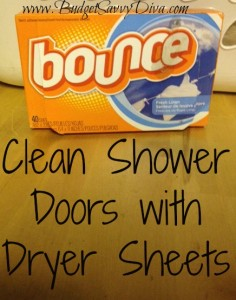 Shower Door Dryer Sheets
