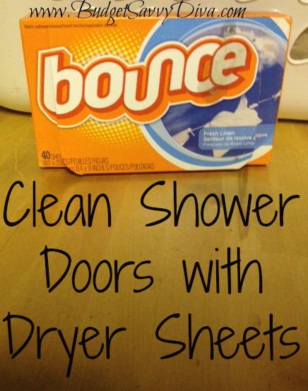 Clean Shower Door With Dryer Sheets Budget Savvy Diva