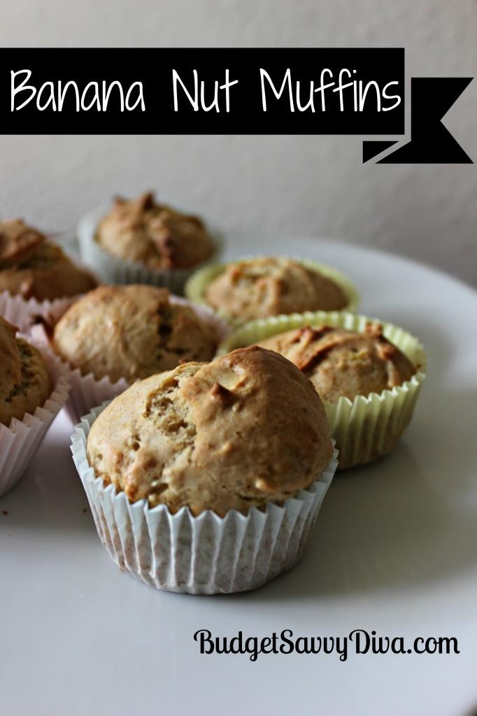 Banana Nut Muffins Recipe | Budget Savvy Diva
