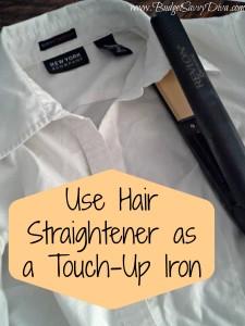 Hair Straightener as Iron