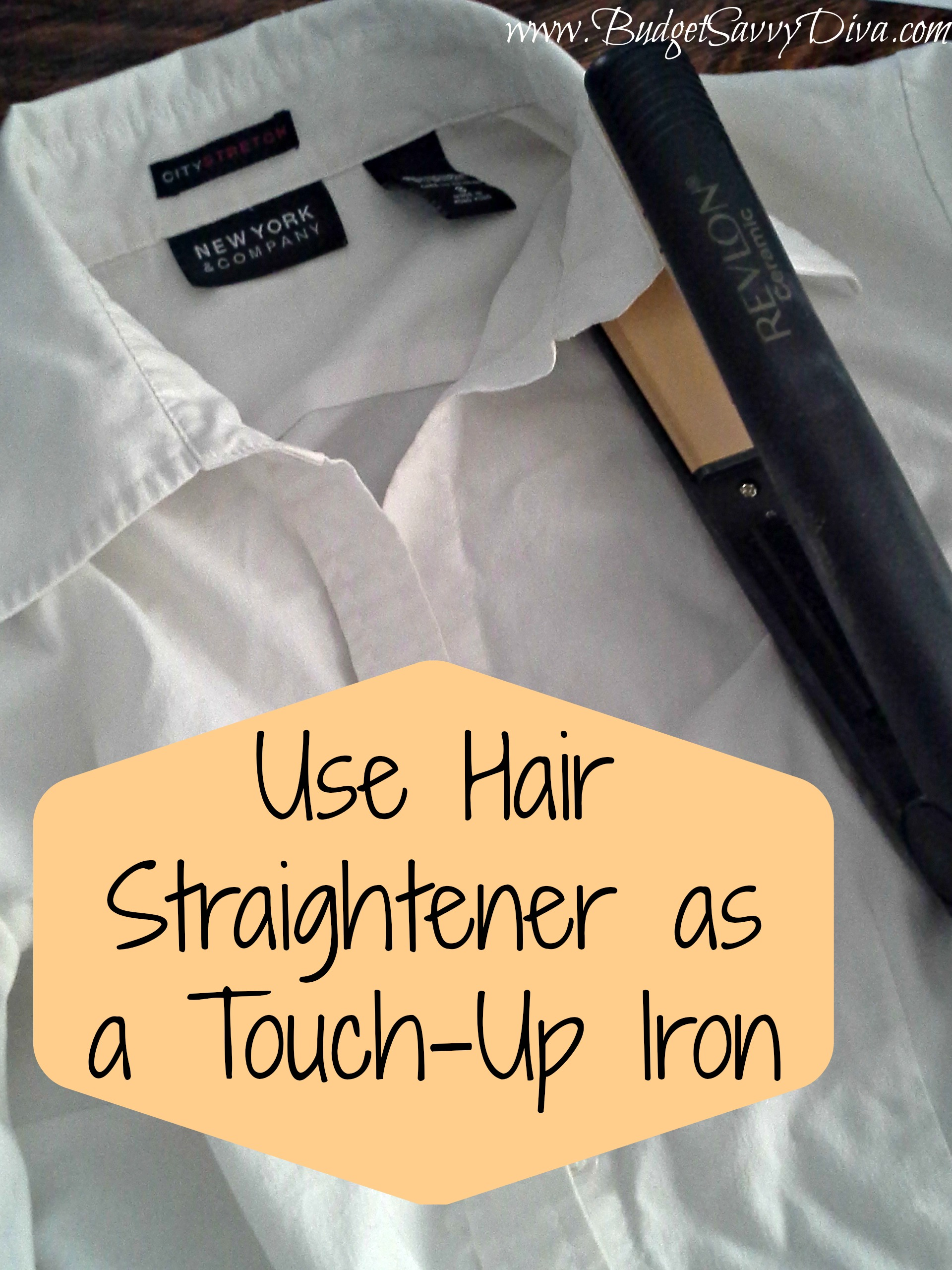 Use A Hair Straightener As A Touch Up Iron Budget Savvy Diva