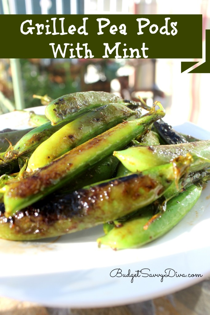 Grilled Pea Pods with Mint Recipe