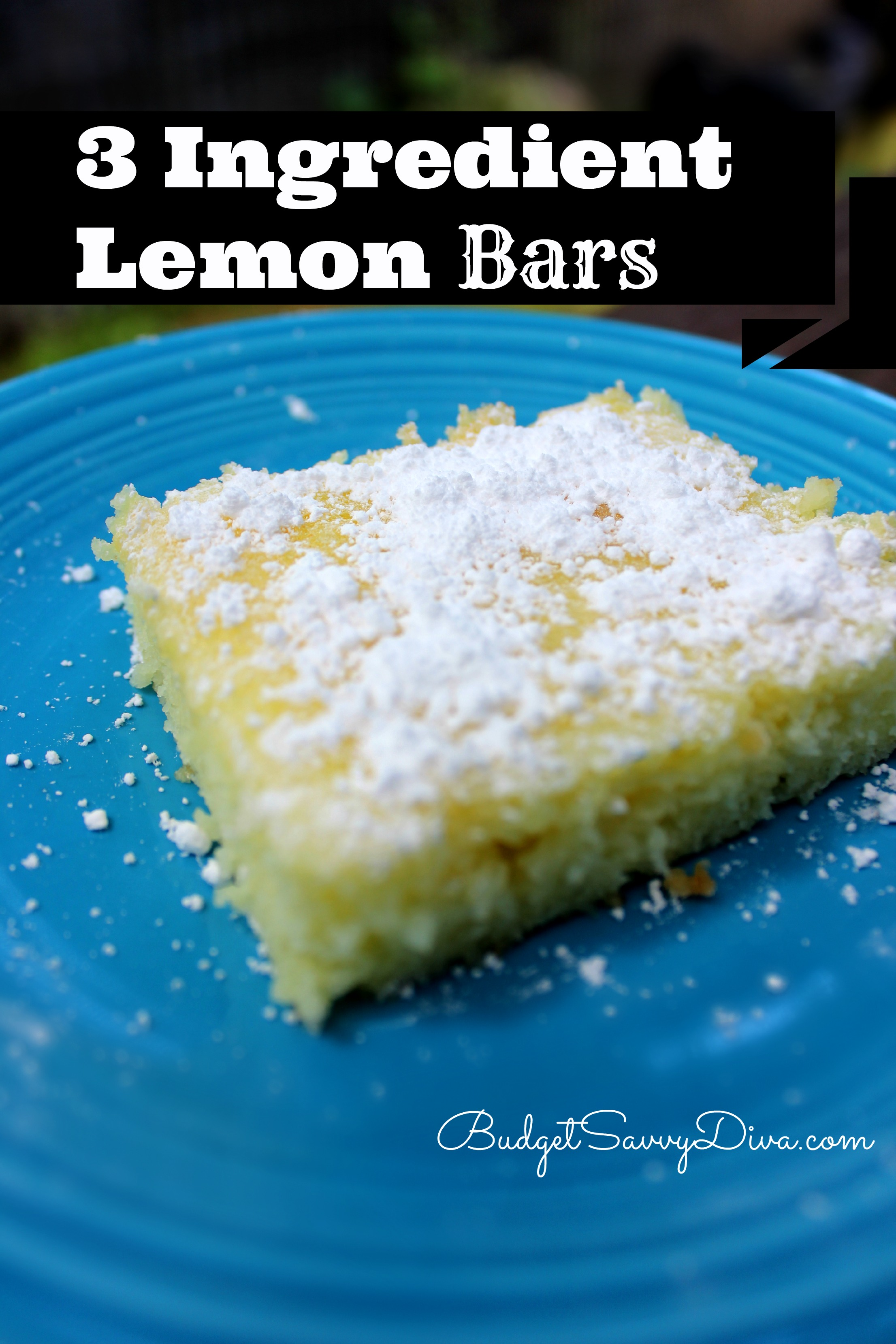 3 Ingredient Lemon Bars Recipe Budget Savvy Diva