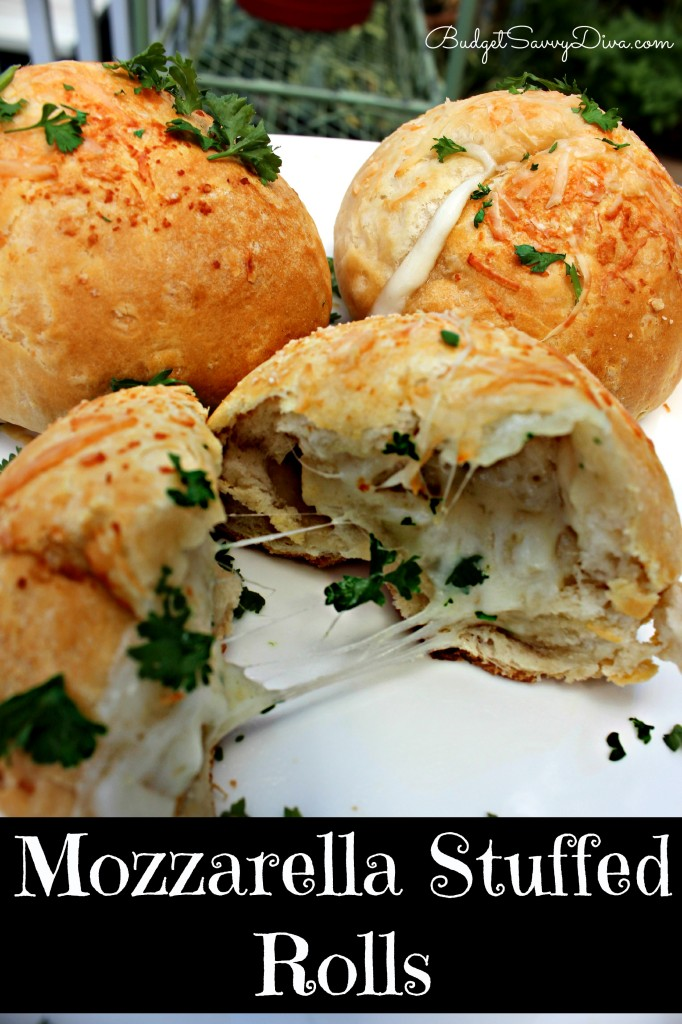 Mozzarella Stuffed Rolls Recipe