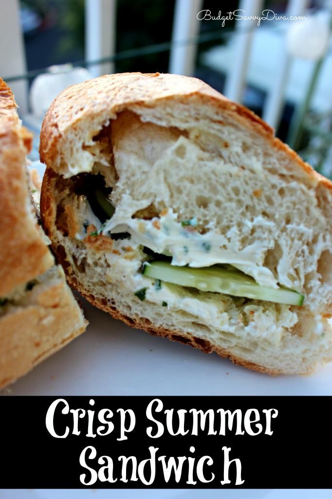 Crisp Summer Sandwich Recipe