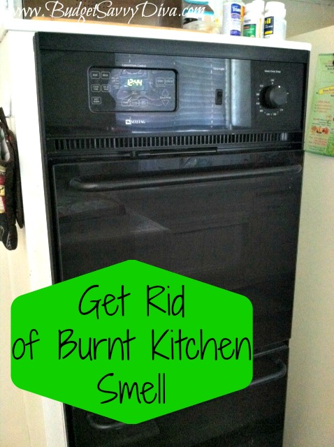 How to get rid of burnt smell microwave