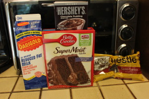 4 Ingredient Chocolate Pudding Cake Recipe