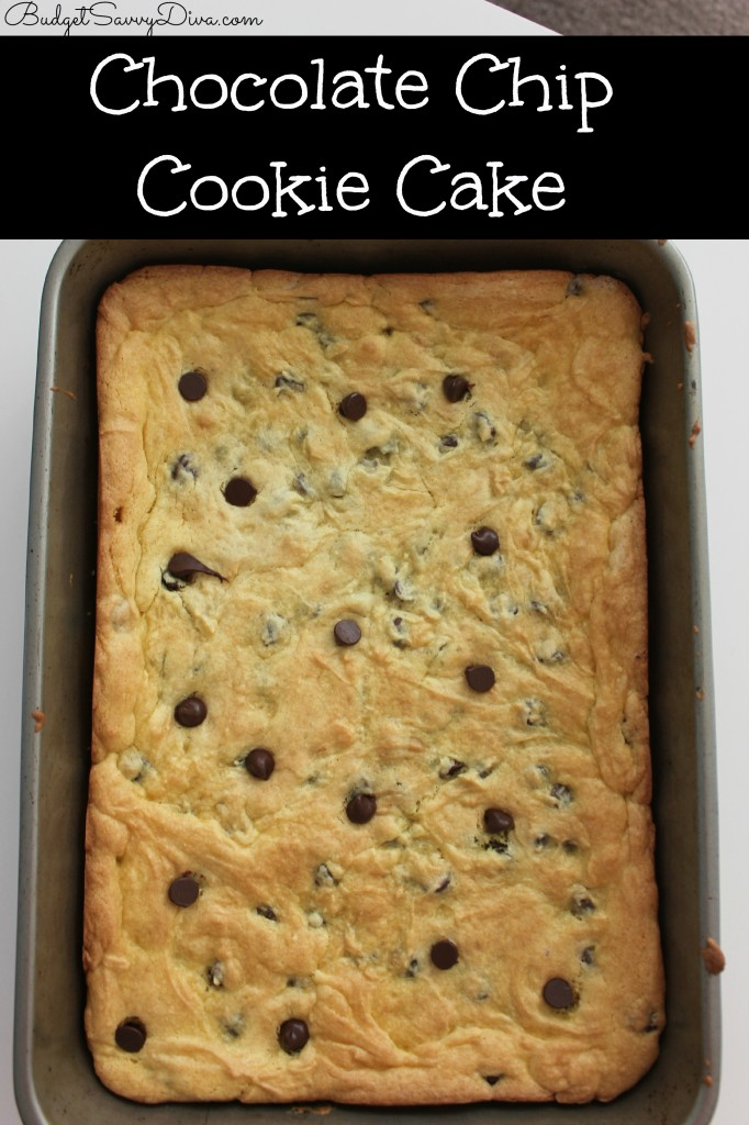 Chocolate Chip Cookie Cake Recipe