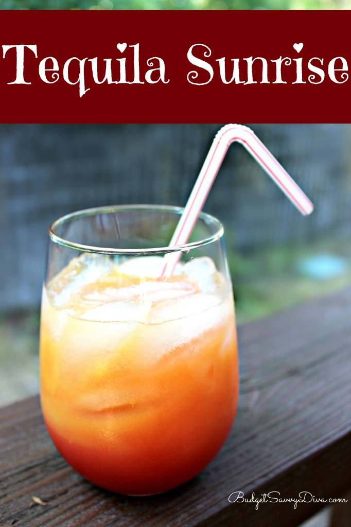 Tequila sunrise cocktail recipe budget savvy diva for Tequila mixed drink recipes