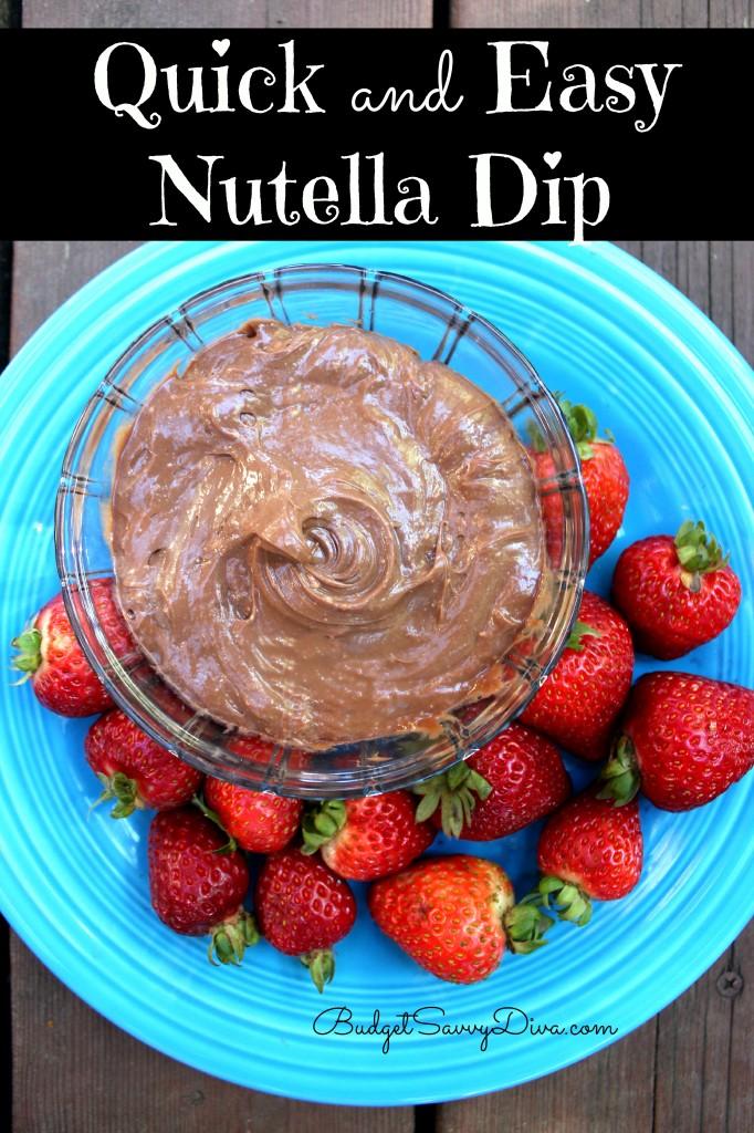 Quick and Easy Nutella Dip Recipe