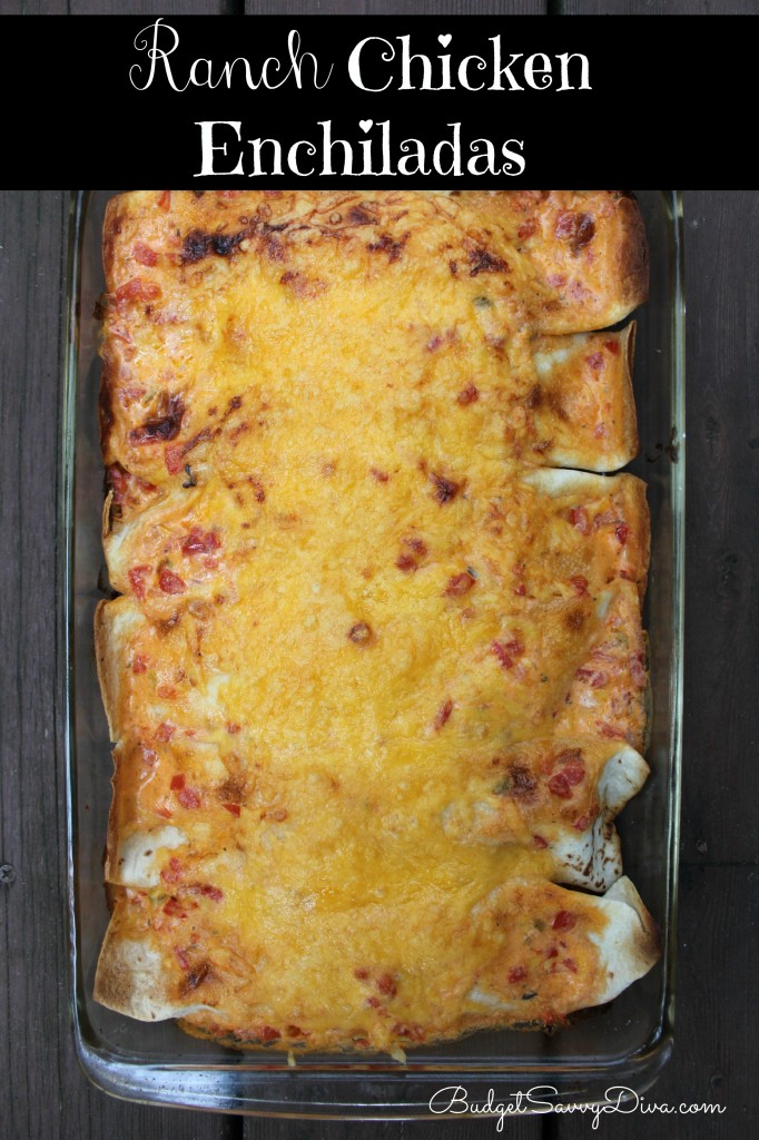 Ranch Chicken Enchiladas Recipe