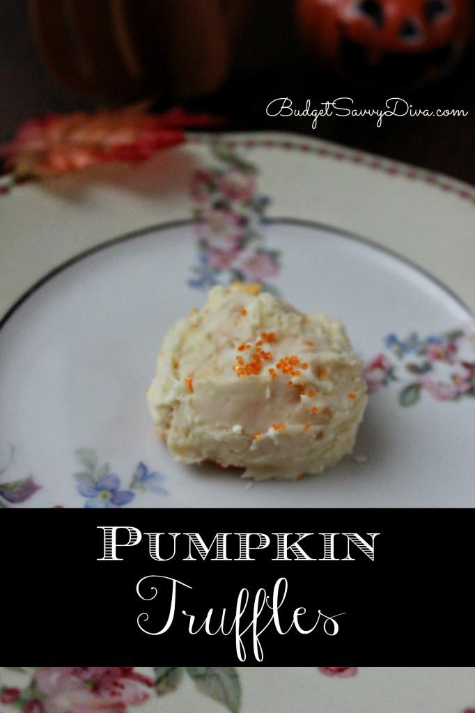 Pumpkin Truffles Recipe