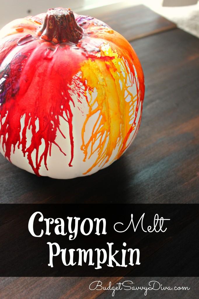 Crayon Melt Pumpkin Craft